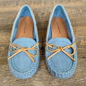 Lucky Brand blue textile flats size 8 EUC